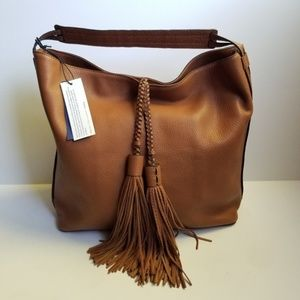 Rebecca Minkoff Isobel Hobo Tassel Purse Brow NEW